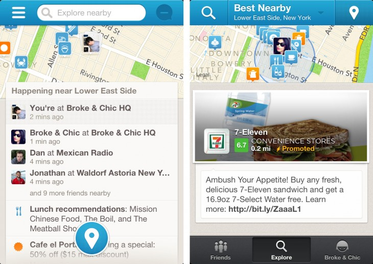 4sq homescreen 730x516 Review: Foursquare for iOS catches up to Android with new discovery features and less clutter