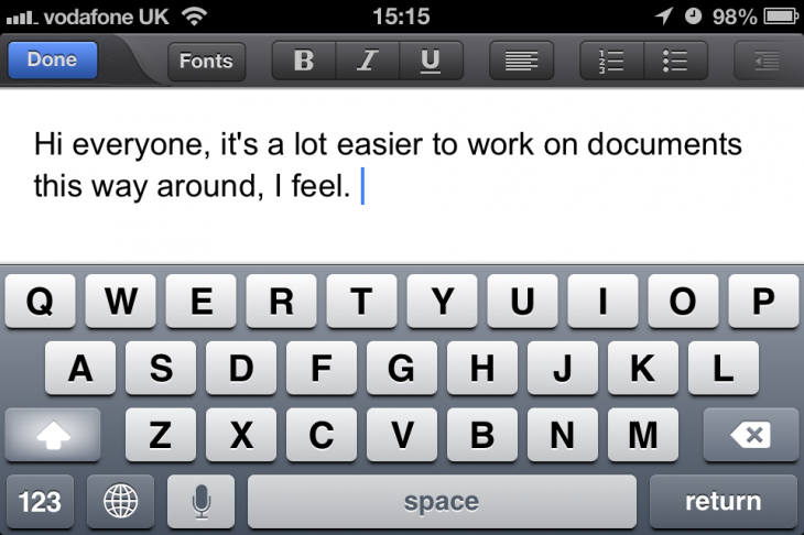 IMG 3224 730x486 Google Drive for iOS gets snappier and now lets you edit documents in landscape on iPhone