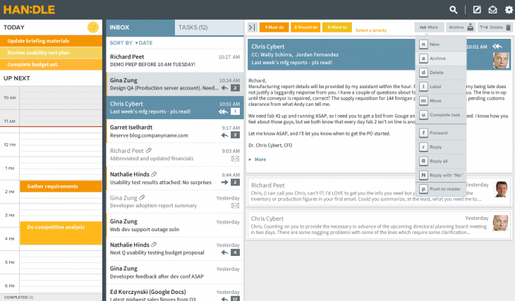 Handle agenda app