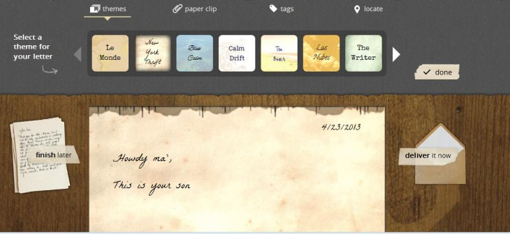Lettrs1 730x336 TNW Pick of the Day: Lettrs turns your iPhone into a personal writing desk, transcriber and post office