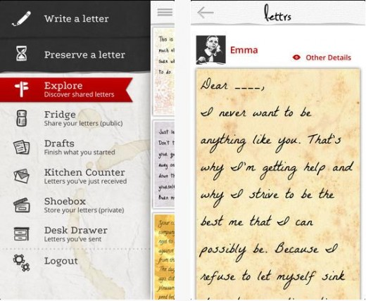 Lettrs3 520x428 TNW Pick of the Day: Lettrs turns your iPhone into a personal writing desk, transcriber and post office