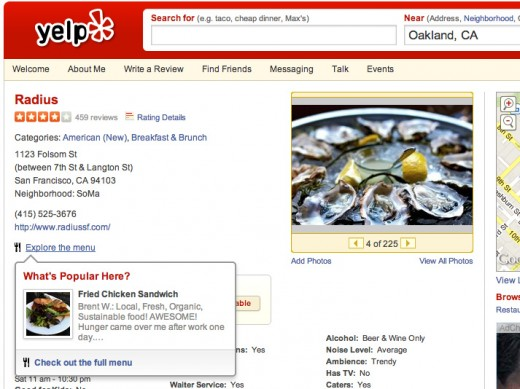 Yelp Locu screenshot 1 520x389 Yelp taps Locu to enable real time menu updates for restaurants