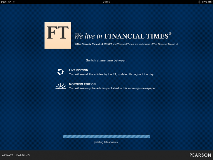 a2 730x547 The FTs new iPad Web app features morning and live editions, a personalized MyFT hub, and more