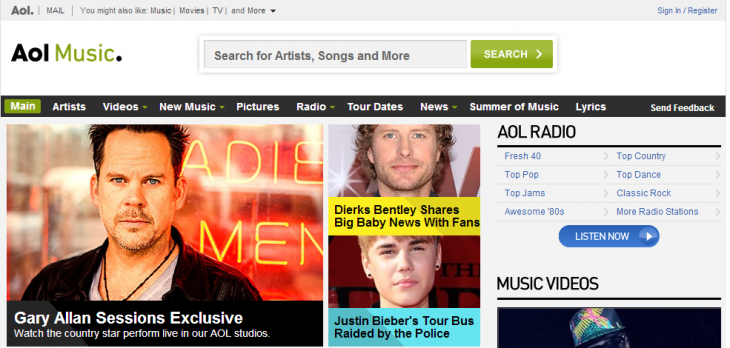 aol music 730x348 AOL Radio confirms AOL Music, The Boot, Noisecreep, Spinner, and The Boombox are all shutting down