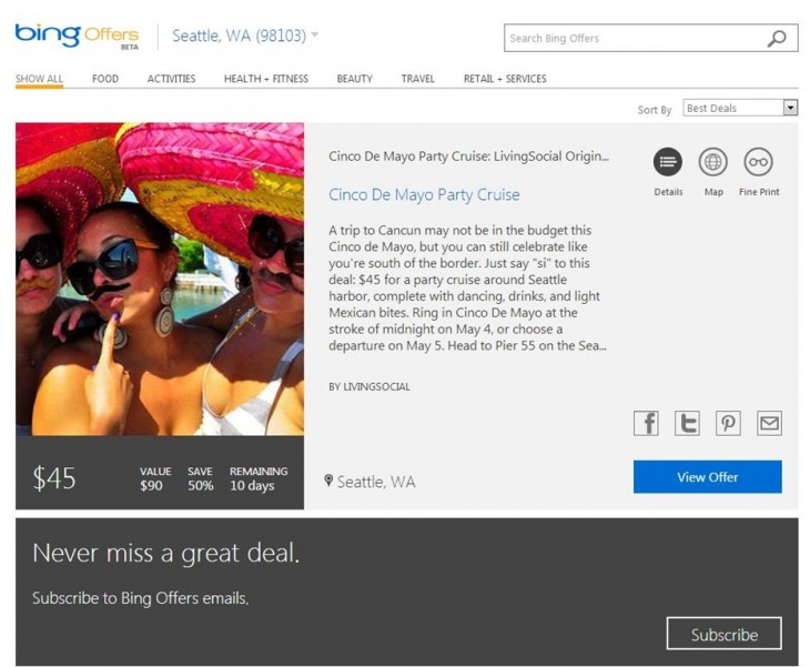 cinco de mayo 1 46E9CB93 730x601 Microsoft kills Bing Deals and launches Bing Offers in the US, aims to aggregate more local deals on one site
