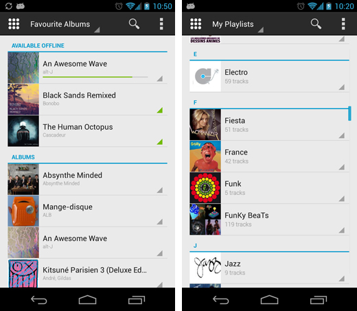 deezerandroid2 Deezer launches recharged Android app in beta with a fresh design, predictive search and mini player