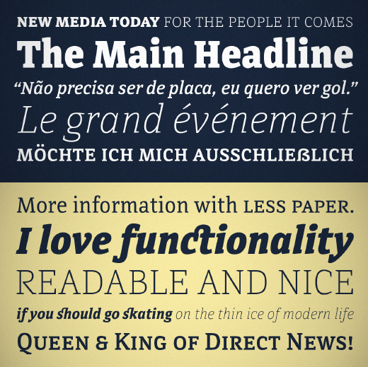 directa serif 23 Of the most beautiful typeface designs released last month
