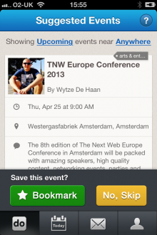 e3 220x330 TNW Pick of the Day: Calendo for iOS taps and trumps Facebook for event recommendations