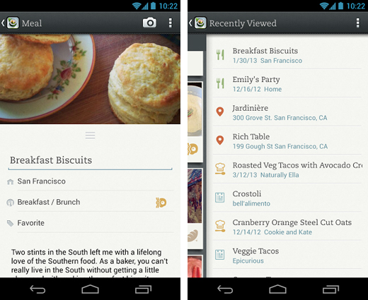 evernote2 Evernote Food for Android updated with new navigation options, OpenTable restaurant bookings and more