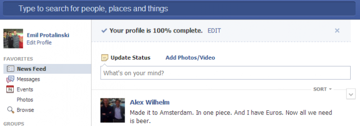 fb profile complete 730x256 Facebook is testing a new prompt asking users to complete their profile, just like on LinkedIn