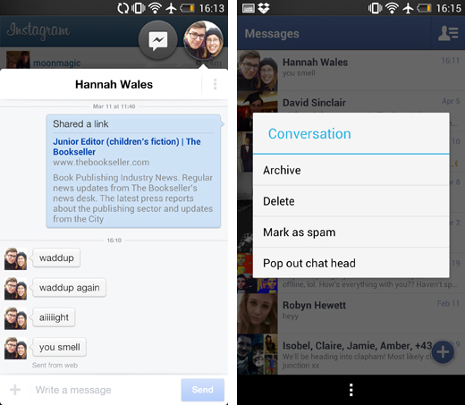 fbscreens2 Android users without Facebook Home can still get Chat Heads, via a new Messenger update