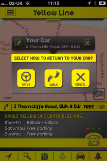 i1 220x330 Yellow Line for iOS gives London drivers local parking information and records where they left their car