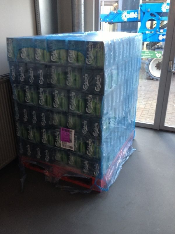 Ah finally the good news! 9000 bottles of Carlsberg.
