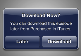itunes download later Apple adds download later option to movie, TV and music box set purchases on the iTunes Store