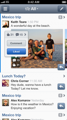 justme messages 220x390 Just.me launches its unified social messaging app out of private beta