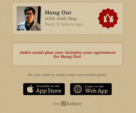 ketchup webapp 520x432 Ketchup launches as an iPhone app to help you make good on promises to hang out