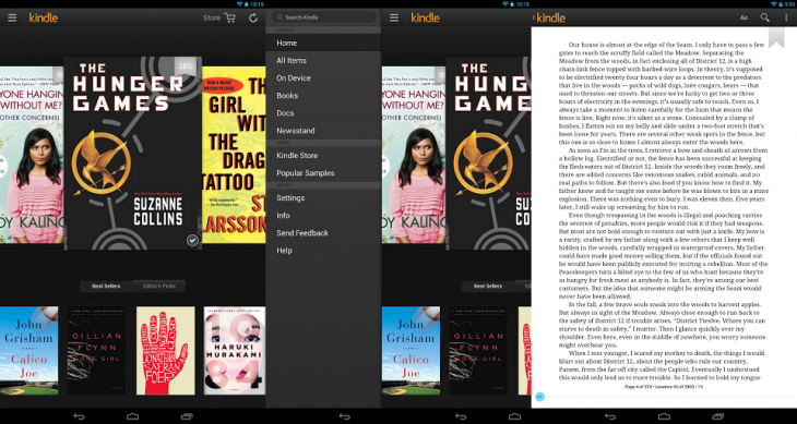 kindle android 730x389 Amazon redesigns Kindle for Android with new library, carousel browser, expanded navigation panel, and more