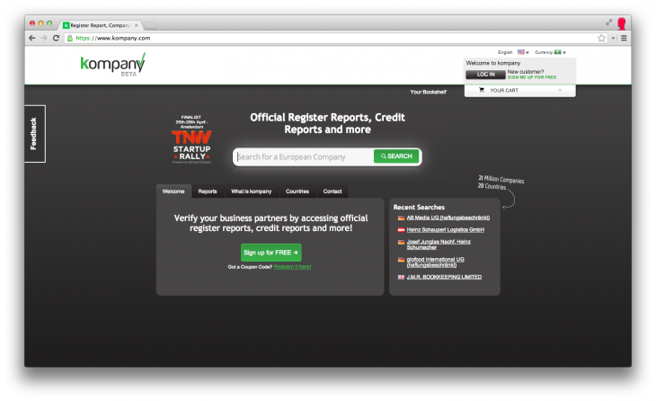 kompany 730x446 Kompany emerges from beta with a database of official documents covering 21m European companies