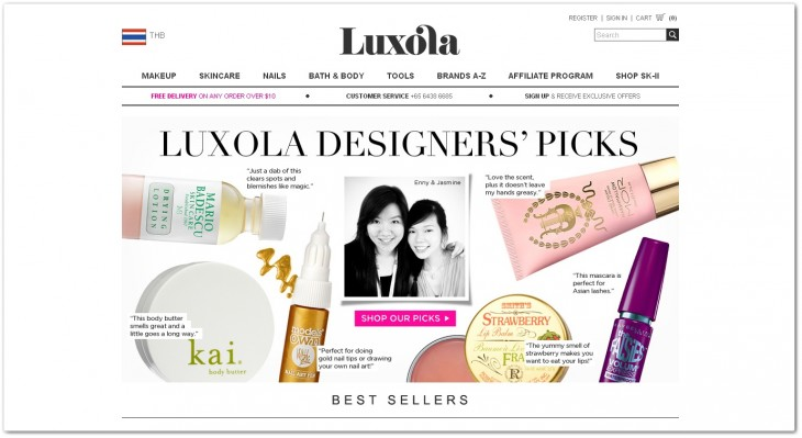 luxola 730x399 Southeast Asian online cosmetics store Luxola lands Series A round from GREE Ventures