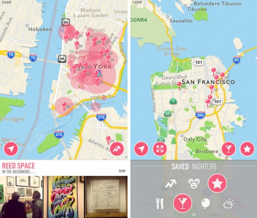nowapp 520x441 Now for iOS gets a new look and Vine support to help you find the trendiest places nearby