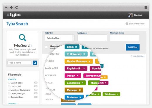 searchtools2.jpeg 520x370 Tyba wants to make it easier for employers to find the perfect junior staff
