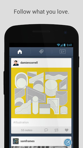 unnamed Tumblr gives its Android app a total facelift to follow Holo design conventions