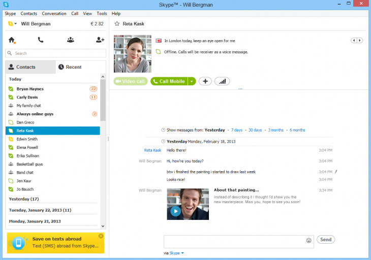 vimb1 730x512 Microsoft launches preview of Skype Video Messaging for Windows, says feature coming to Windows 8 app soon