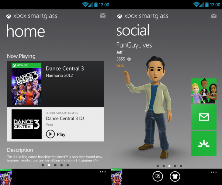 xbox smartglass 730x608 Microsoft brings its Xbox SmartGlass app to the Amazon Appstore for Kindle Fire tablets