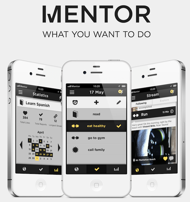 00 Tryptichon Mentor launches an anti to do list app for iOS, pitting itself against US rivals Lift and Everest