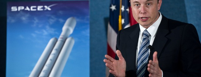 SpaceX CEO Elon Musk unveils the Falcon
