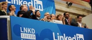 Linkedin founder Reid Garrett Hoffman (C
