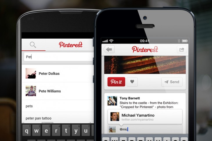2013051301 730x486 Pinterest for Android and iOS get push notifications, predictive search results and friend mentions