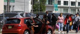 Bay Area Residents Take Advantage Of Public Car Pooling Location