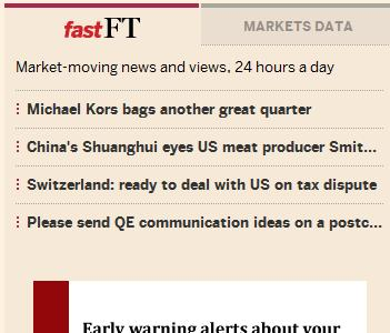 FTFAST4 The FT launches FastFT for live commentary on market moving news. Its like Twitter with context.