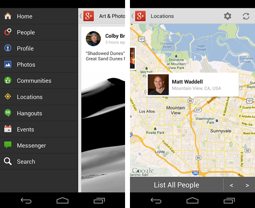 G2 Google+ app for Android updated with new photo editing features, related hashtags and locations area