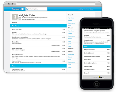 Locu Foursquare adds more restaurant menus via Locu, price and service lists for other businesses coming soon