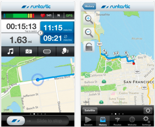 Runtastic's self-titled, flagship app