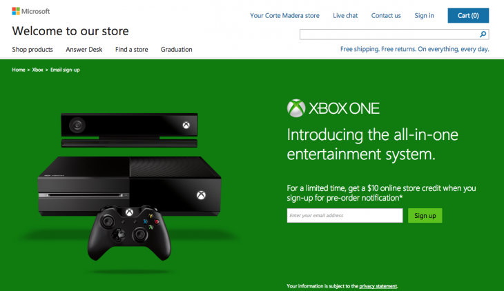Screen Shot 2013 05 21 at 2.08.09 PM 730x422 Microsoft offers to alert you when the Xbox One becomes available for pre order