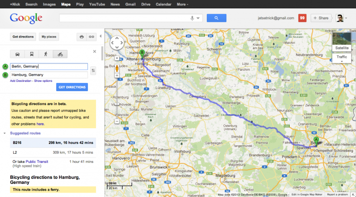 Screen Shot 2013 05 27 at 11.36.41 730x404 Google Maps gets biking directions for Germany, France, Poland, Ireland, Luxembourg and Liechtenstein