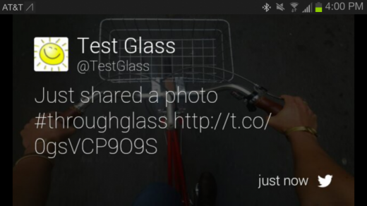 Screenshot 2013 05 15 16 01 00 520x292 Facebook, Twitter, CNN, Elle, Evernote and Tumblr apps now on Google Glass