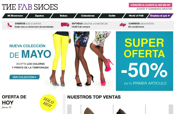 Zapatos de mujer comprar zapatos online The Fab Shoes Online fashion store JustFab buys European e commerce club The Fab Shoes