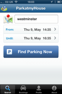a3 220x330 ParkatmyHouse takes its parking marketplace to iOS, but its UK only for now
