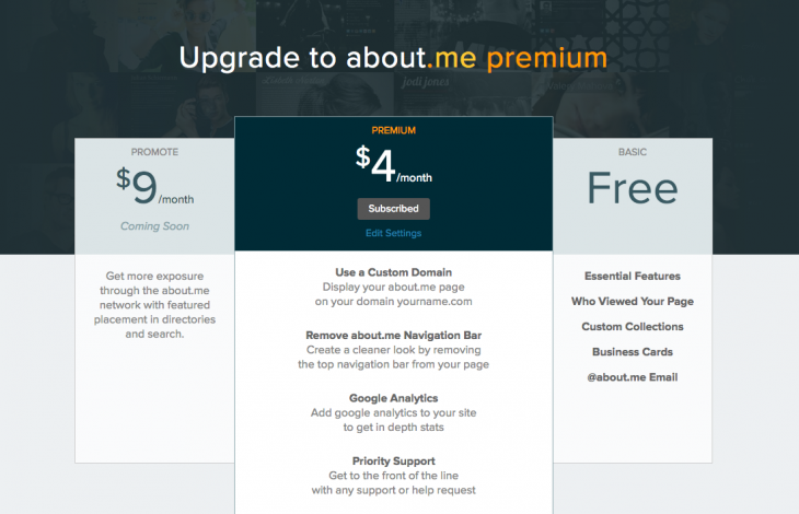 about me_Premium_Upgrade Page
