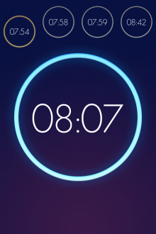 c12 220x330 Wake is a beautiful iOS alarm clock app that lets you slap, flip, shake and swipe yourself out of bed