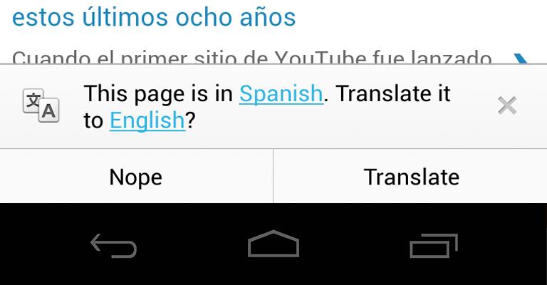 chrome how to translate a page
