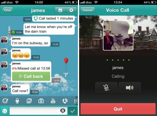 cubie calling 520x386 Multimedia focused messaging app Cubie introduces free voice calls for its 7 million users