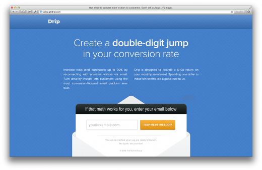 drip 520x339 Issue v1.4   Startups to follow