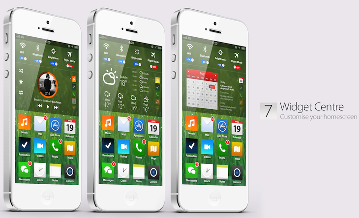 home screen ios7 concept