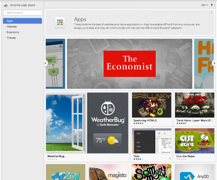 image 730x605 Chrome packaged apps come to the Chrome Web Store, but only on the Dev channel for Windows and Chrome OS
