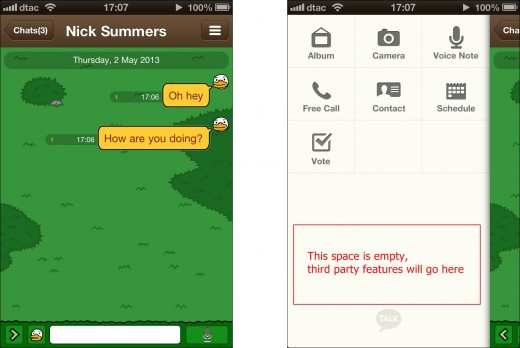 kakaotalk evernote 520x348 Evernote moves on to mobile messaging apps after inking a deal with Koreas Kakao Talk